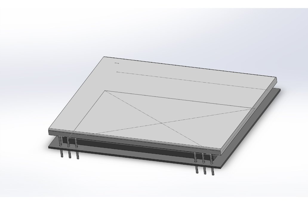 AE DOGM-128 Display holder, breadboard compatible 12