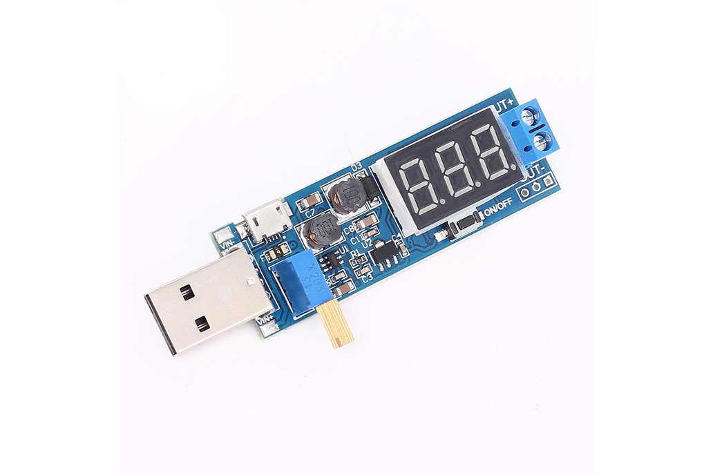 USB adjustable power supply Display  1.2V to 24V 1