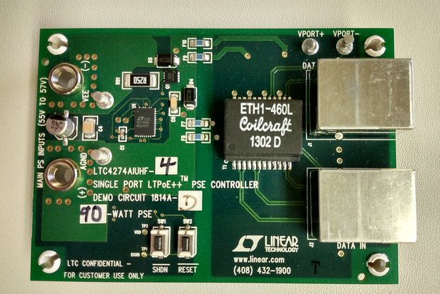 POE evaluation board DC1814A-A for LT LTC4274A-1