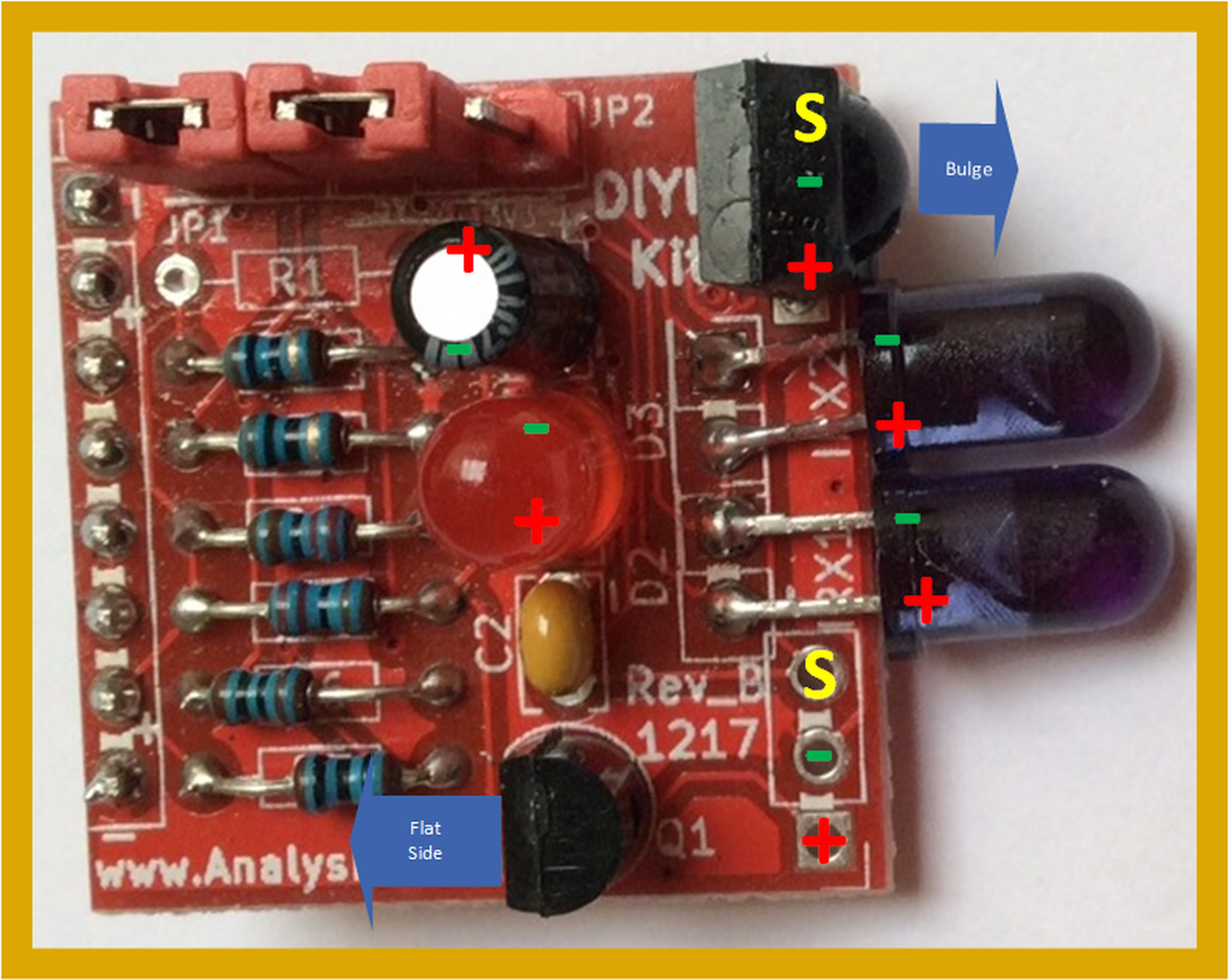 Diy Ir Soldering Kit For Infrared Remote Control From Analysir Repeater Circuit Electronic Components 6