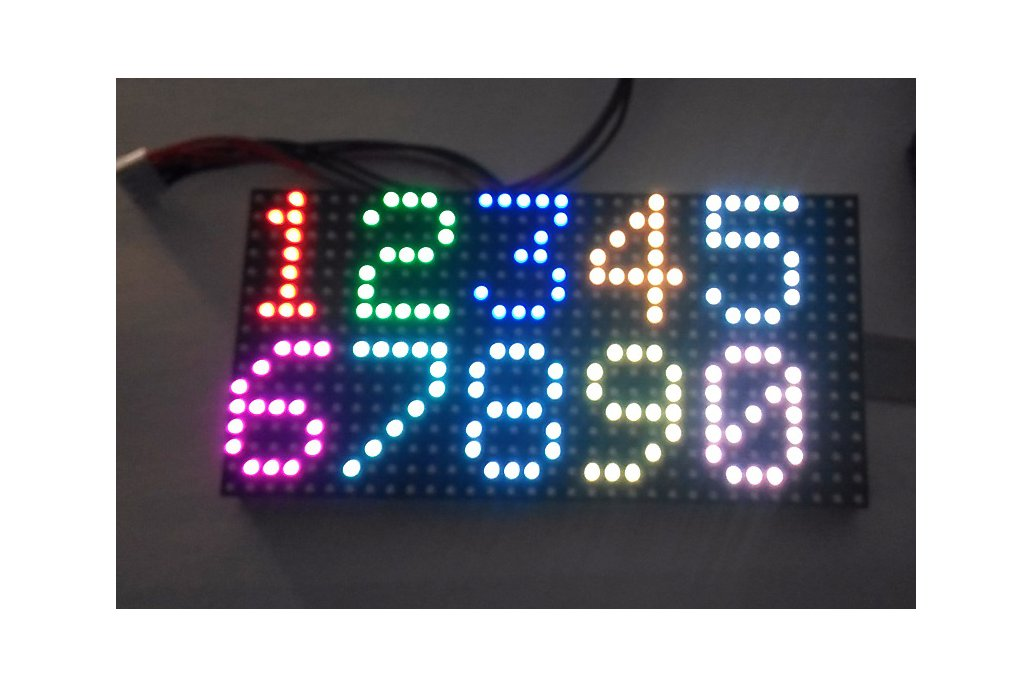 16x32 RGB Matrix panel with an Arduino Uno  shield 4