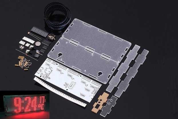 DIY Kit Red LED Dot Matrix Clock SMD Kit (13033)