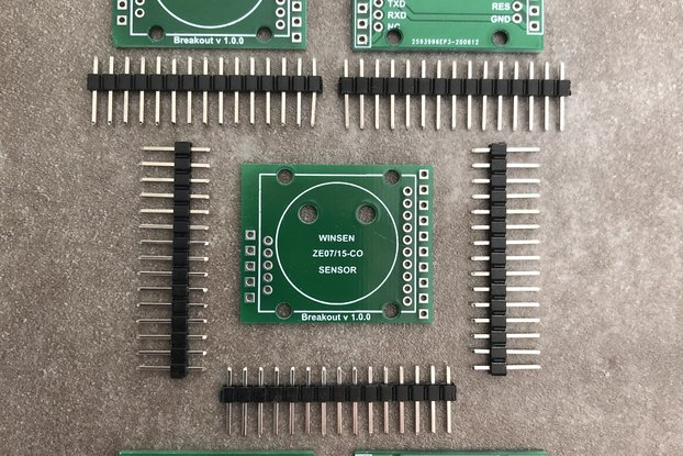 PCB Breakout Boards for Winsen ZE07-CO Modules