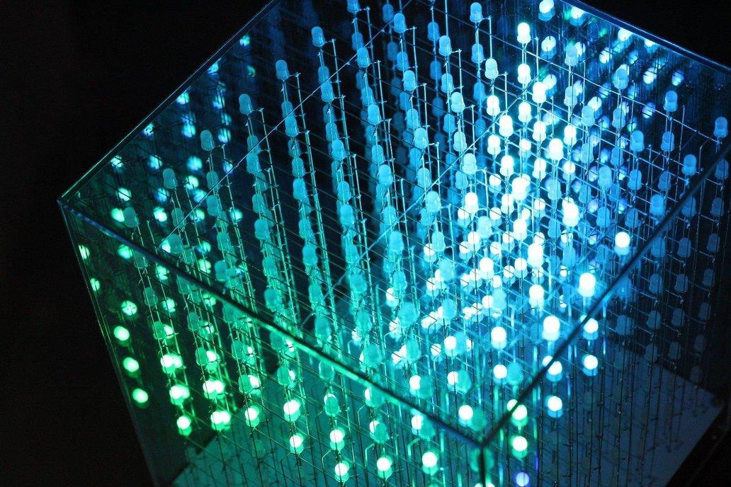 AuraCube 8x8x8 3D RGB LED Cube DIY Kit 6