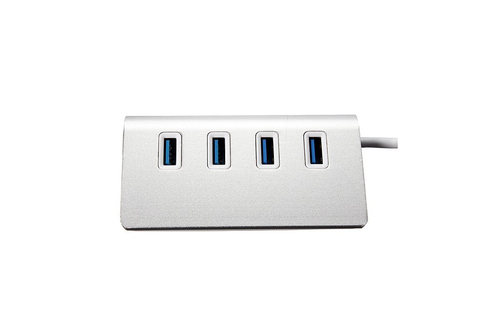 Hi-Speed Aluminum USB 3.0 4-Port Splitter Hub Adap 2