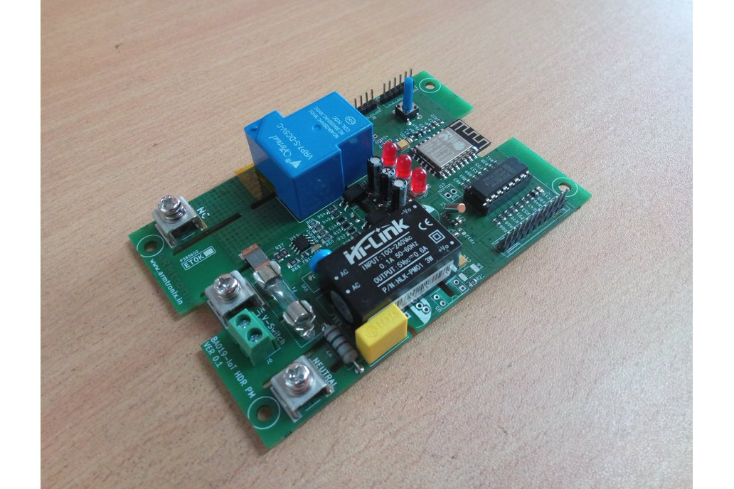 BA019: Wifi 30A Relay with Power Monitoring Board 1