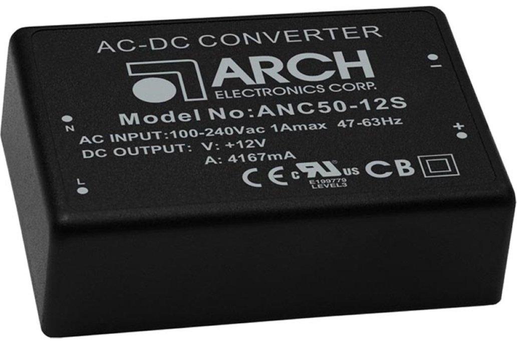 ARCH AC/DC Power module 24V DC out P/N=ANC50-24S 1