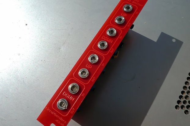 Dual up/down line to Eurorack level shifter module