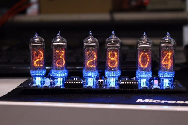 No Tube Diy Kit - NIXT CLOCK - IN14 Nixie Clock