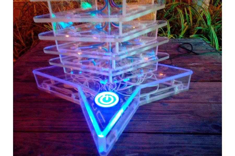 Interactive light effect tower