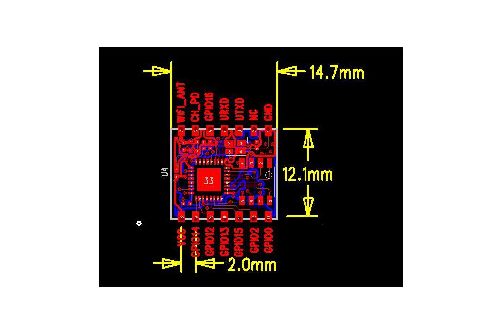 ESP8266 ESP-04 Module 3