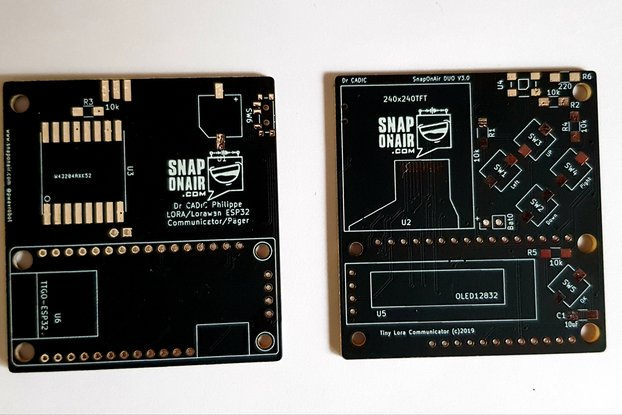 Dual Display LORA Pager with ESP32 (PCB ONLY)