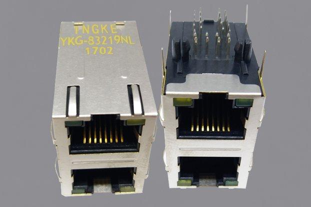 YKG-83219NL 2X1 Ports RJ45 Magjack Connector