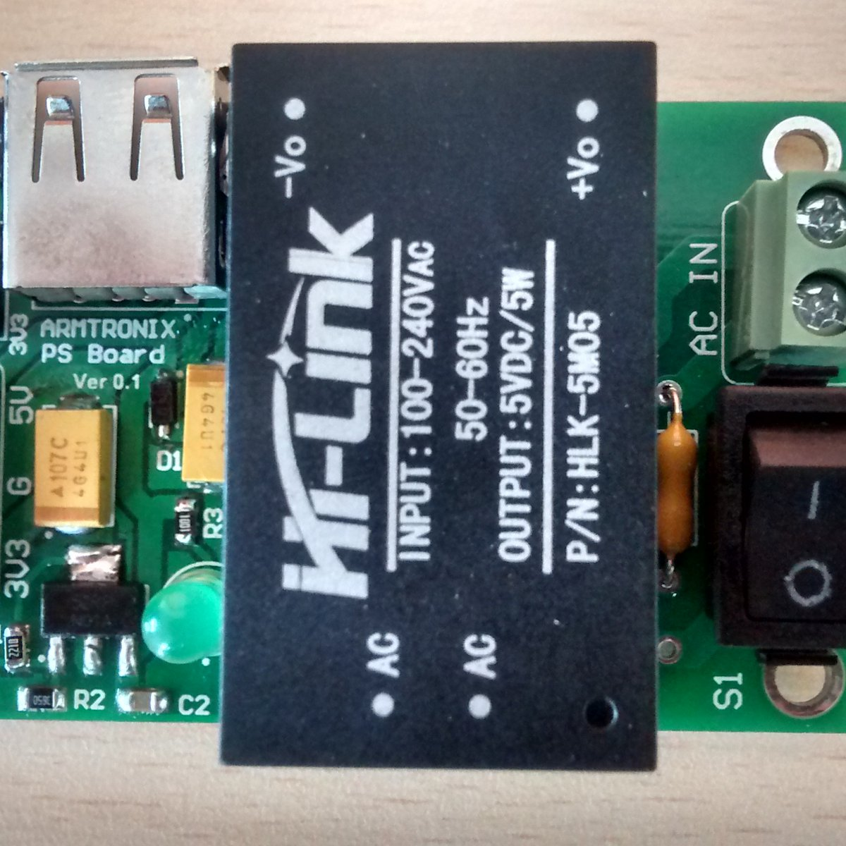 Ac Dc 220v To 5v 33v 1a 5w Step Down Power Supply From Armtronix On Using A Transformer 230v 12v Electrical Engineering Tindie