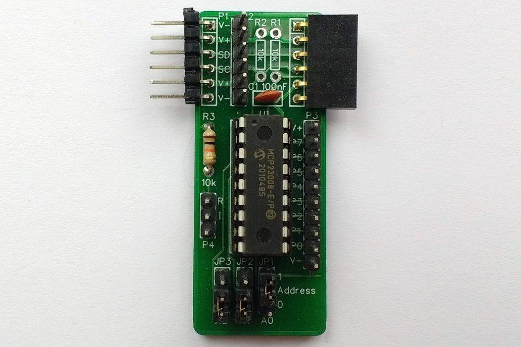 SC404 I2C Digital I/O Module Kit (MCP23008) 1