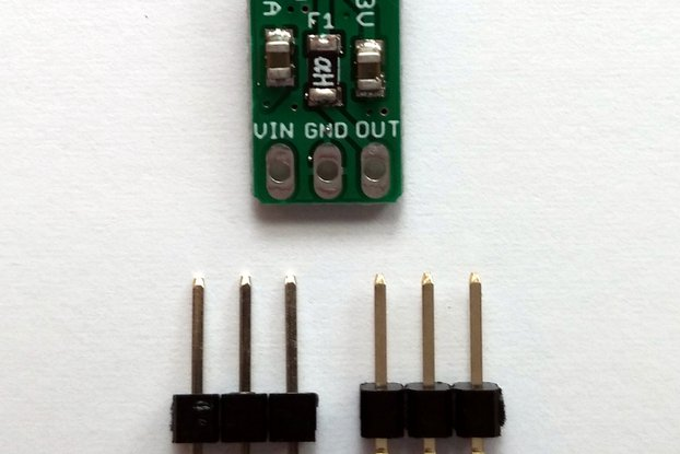 3.3v/1A 3-pin Linear Voltage Regulator w/polyfuse
