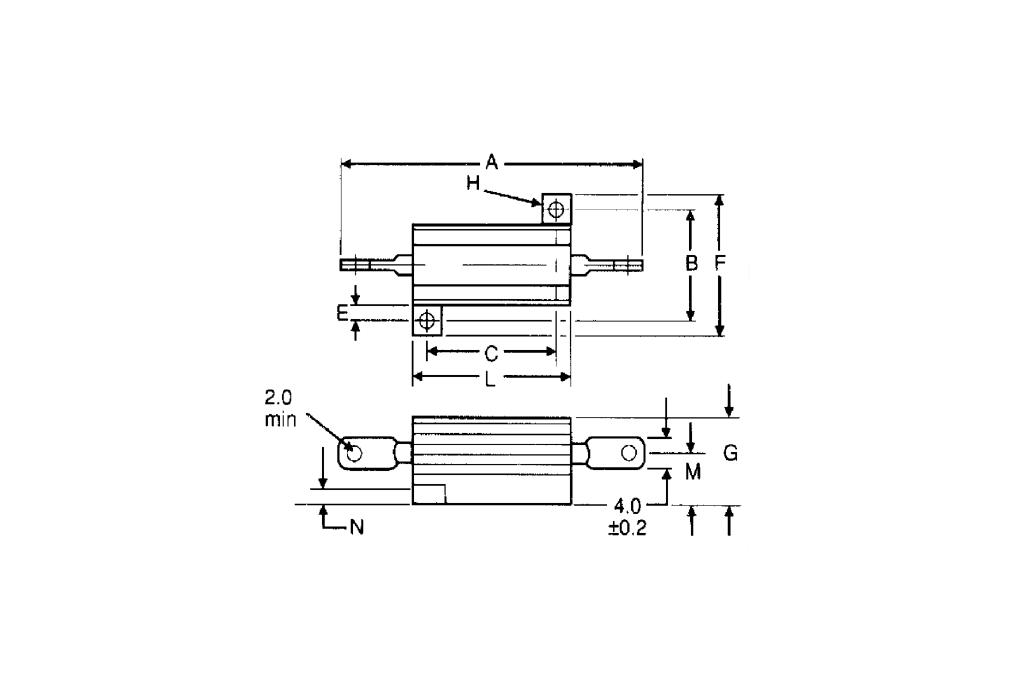 Precision 50W Resistor/Shunt 1% [16Ω or 1.6Ω] 8