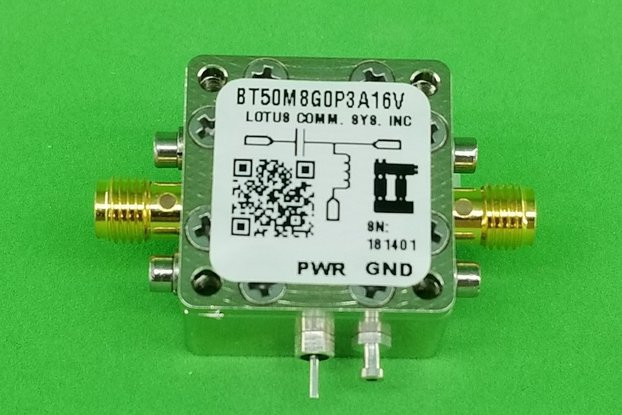 Bias Tee Broadband 50 MHz to 8.2 GHz Max 300mA 16V