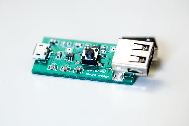 USB power micro wedge - 5V interruptor