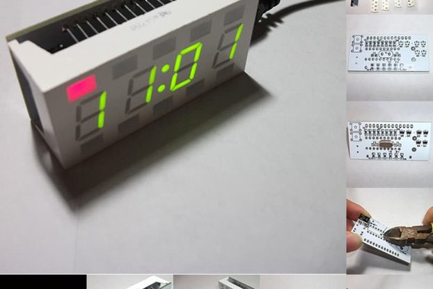 DIY 4 Digit Digital LED Electronic Clock Kit Toy