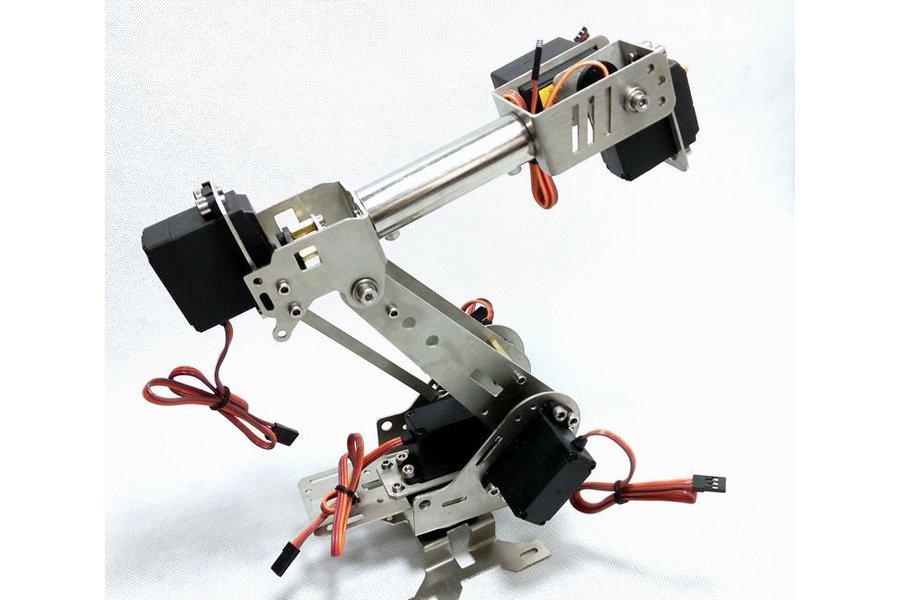 Stainless Steel 6 DoF Metal Robot Arm