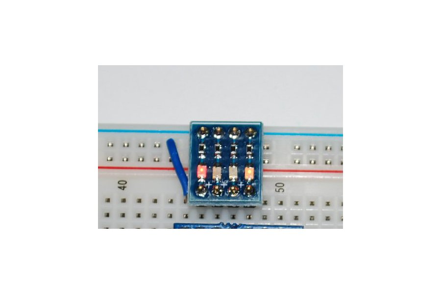 4 led board to fit into a breadboard