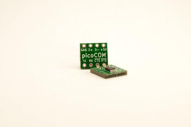 picoCOM - DIP-8 Sized USB to UART Converter