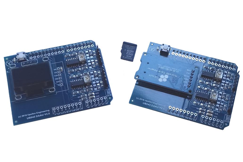 Differential Amplifier Shield for Arduino Uno 2