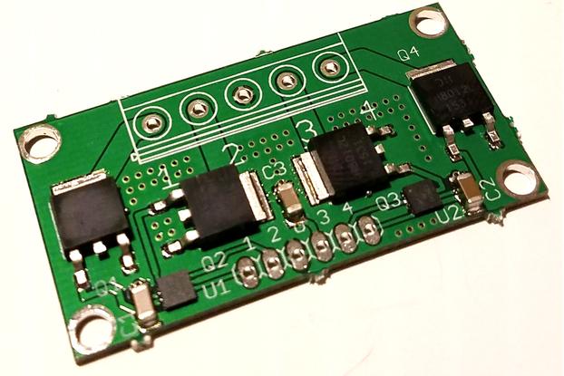 4-CH MOSFET w/FAN3224 driver IC