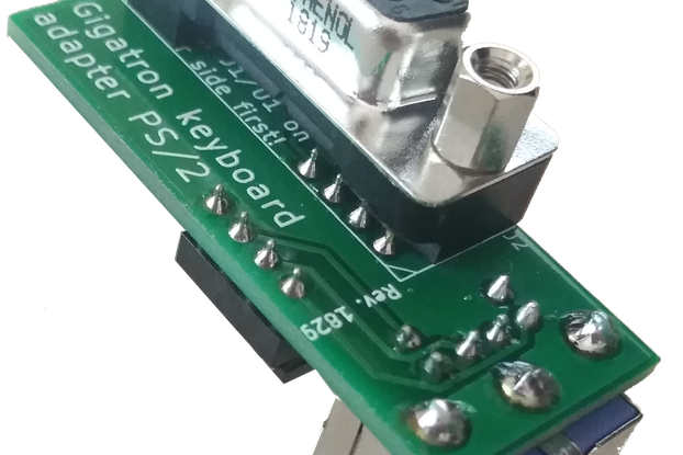 Pluggy McPlugface PS/2 adapter kit with EPROM