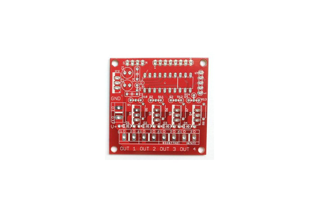 4 channel MOSFET board with MSP430 controller PCB 4