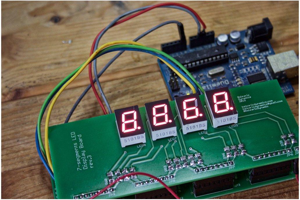 7-Segments LED Display Arduino Kit 1