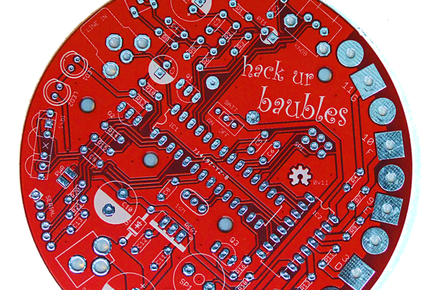 Hack UR Baubles (Bare PCB)  Arduino Christmas Lights controller!