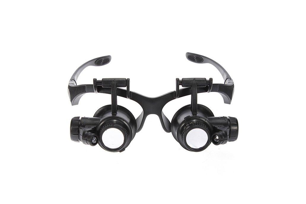 8 Lens 10x 15x 20x 25x Headband 2LED Magnifier 1