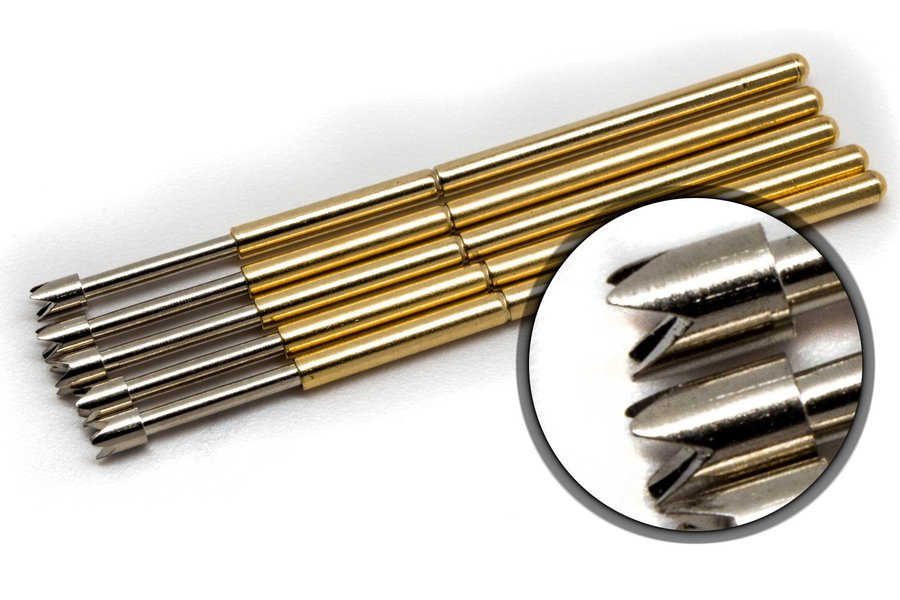 [10x] Crown Tip Spring Loaded Pogo Test Pins