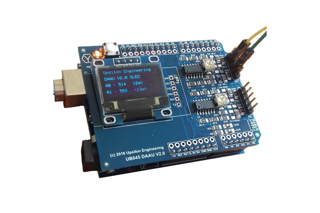 Differential Amplifier Shield for Arduino Uno 3