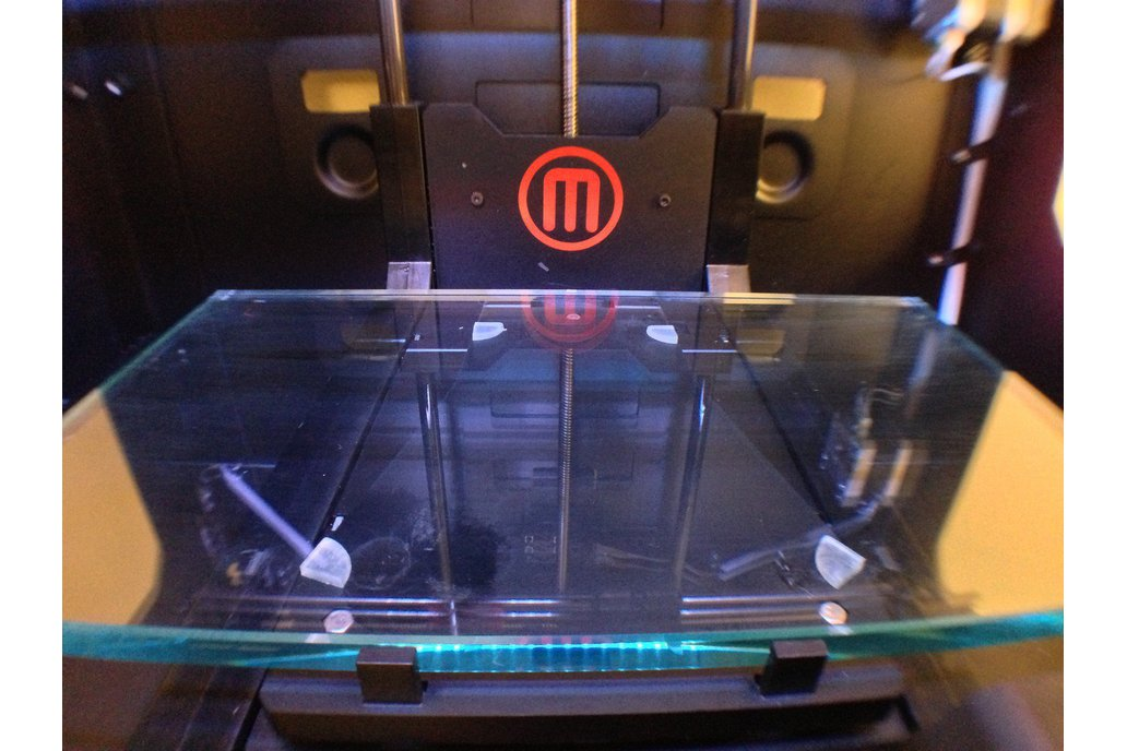 Makerbot Replicator 2 Glass Build Plate Upgrade 1