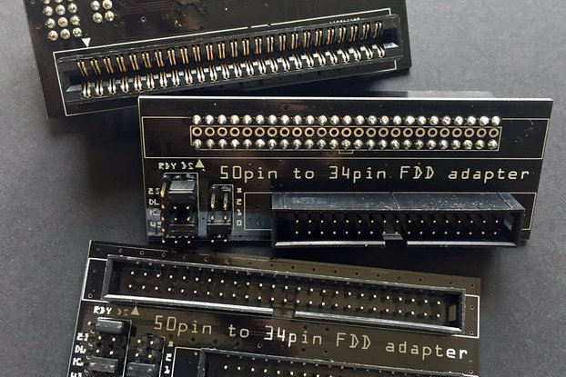 """8"""" floppy disk interface 50-pin to 34-pin adapter"""