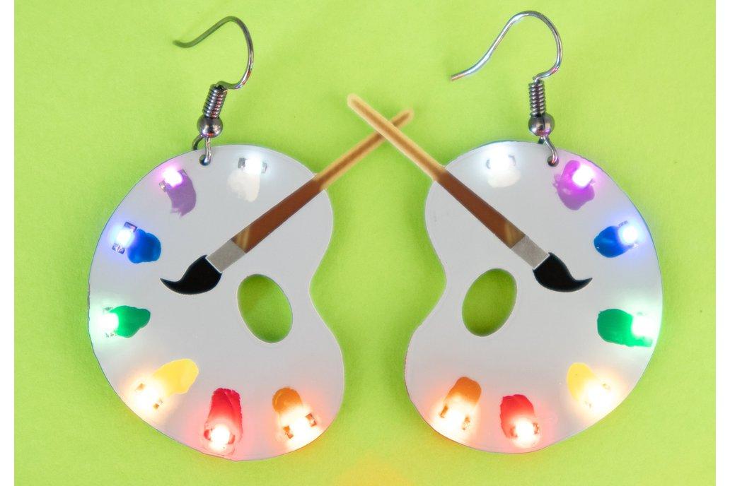 Art Palette colored LED earrings (pair) 1