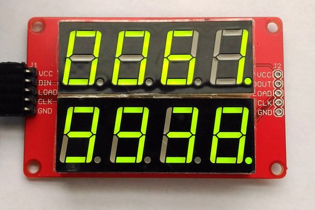 Double row 4-digit seven segment LED display-GREEN