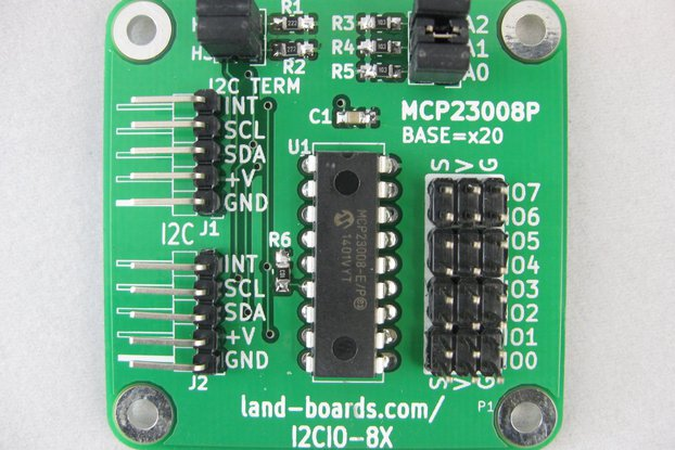 I2C 8-bit I/O MCP23008 (I2CIO-8X)