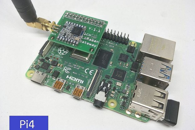 1 Channel LoRaWan Gateway Shield for Raspberry Pi4