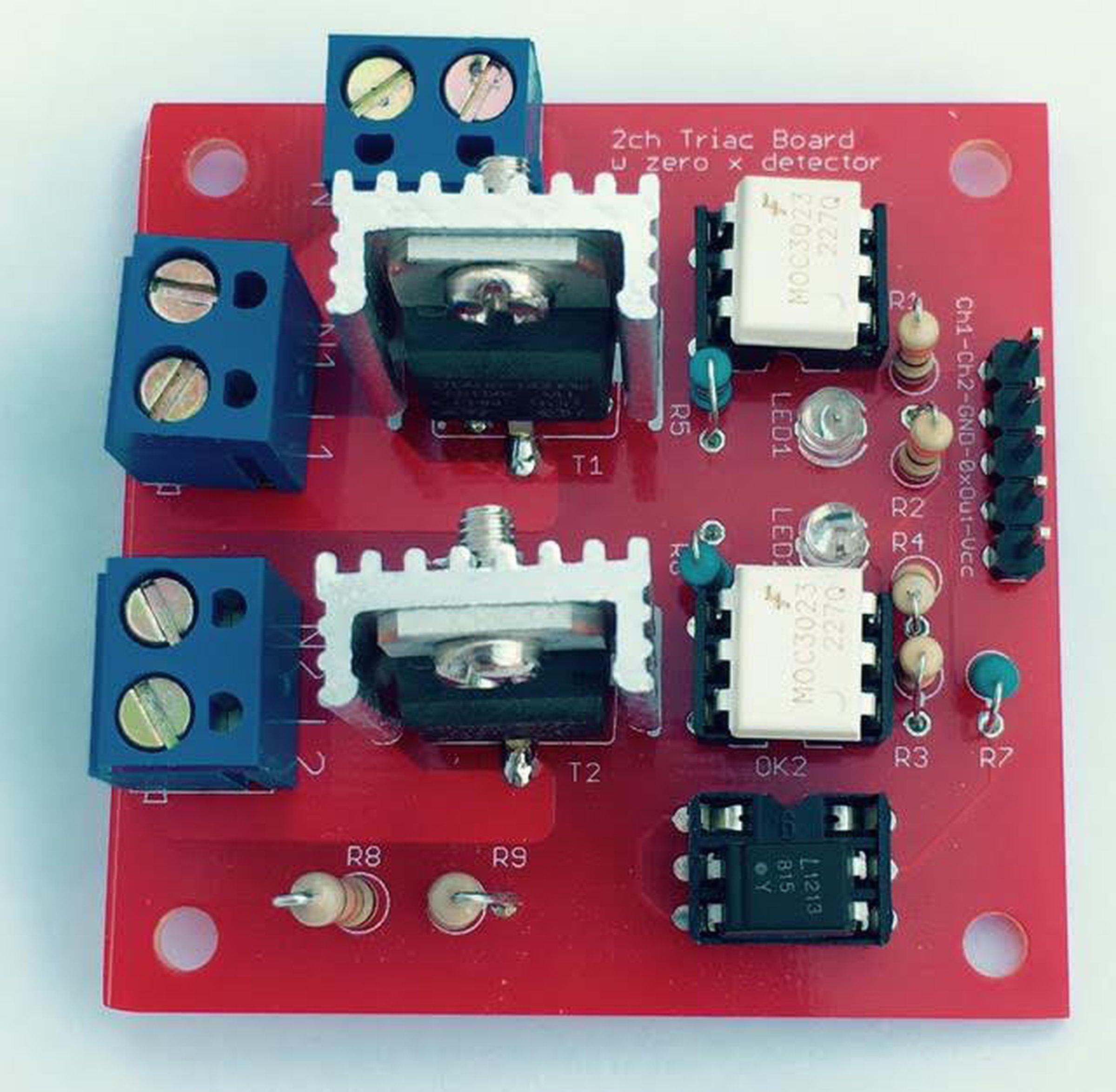 2 Ch Triac Board W Zero Crossing Detector Pcb From Robg On Tindie Opto Circuit 1