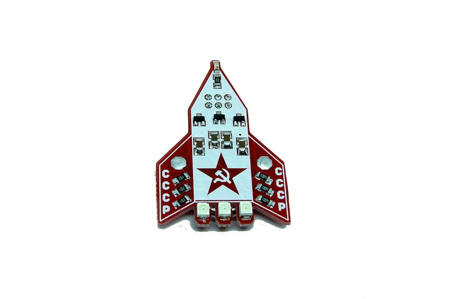 CCCP Russian rocket - LED learn to solder kit