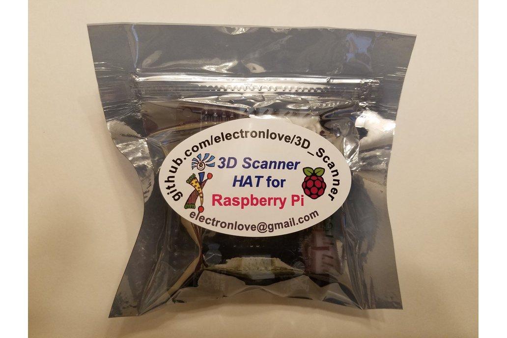 3D Scanner HAT for Raspberry Pi 5