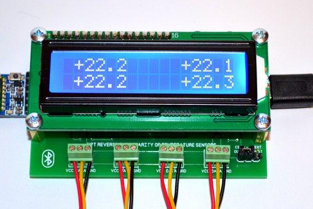 4CH Temperature Logger Arduino Bluetooth