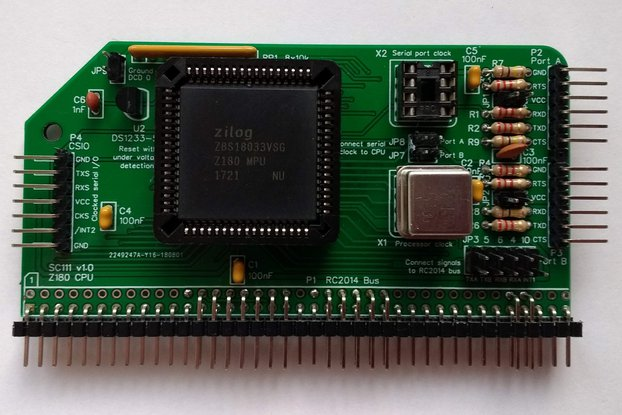 SC111 Z180 CPU Module Kit for RC2014