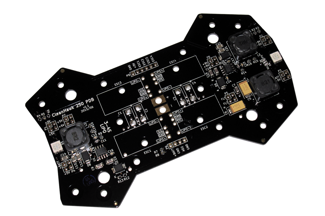 CleanHawk 250 Quadcopter Power Distribution Board