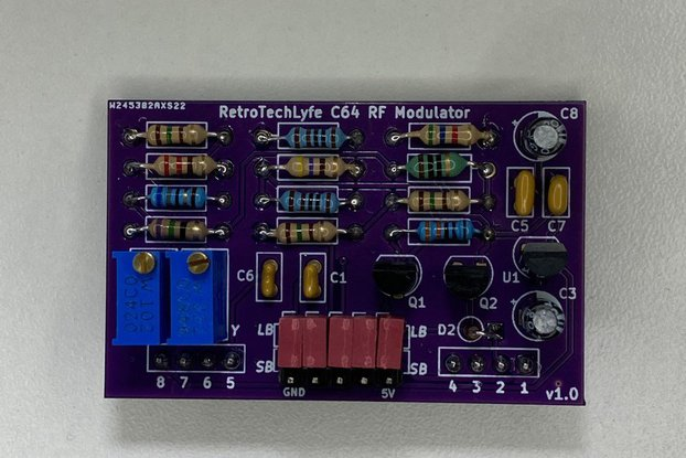 RF Modulator Replacement Commodore 64 C64 & C64C