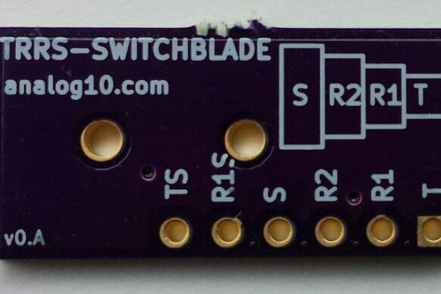 TRRS Switchblade: Audio Jack Breakout Board